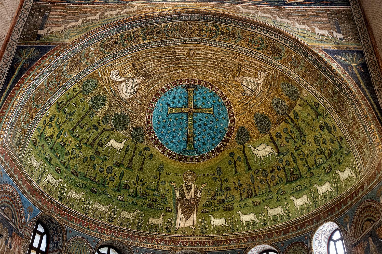 03 ...in Alto La Mano Di Dio Spunta Tra Le Nubi, Croce E S. Apollinare... Ravenna