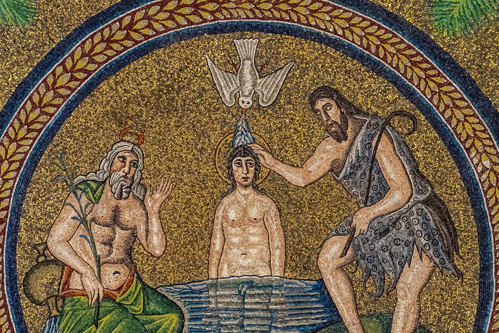 03 Battisstero Ariano - Dettaglio Del Tondo Centrale Con Il Battesimo Di Cristo
