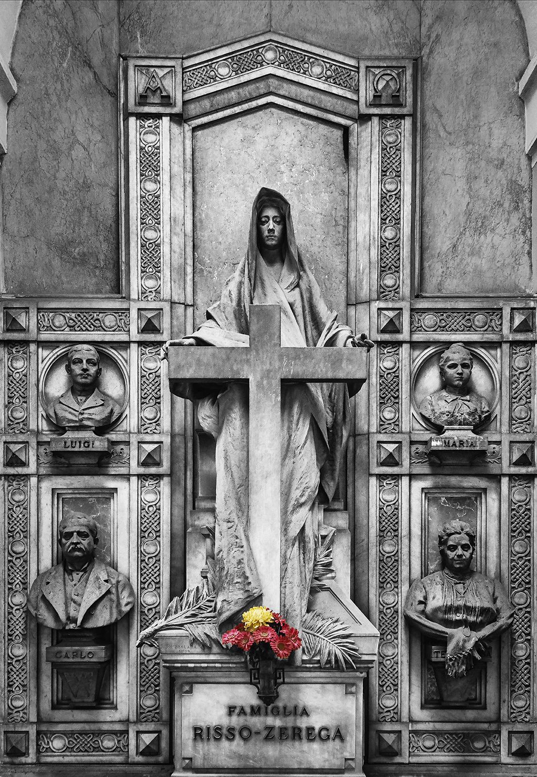 12-T. Risso-Zerega...un capolavoro con i busti dei 4 defunti e l'allegoria della fede
