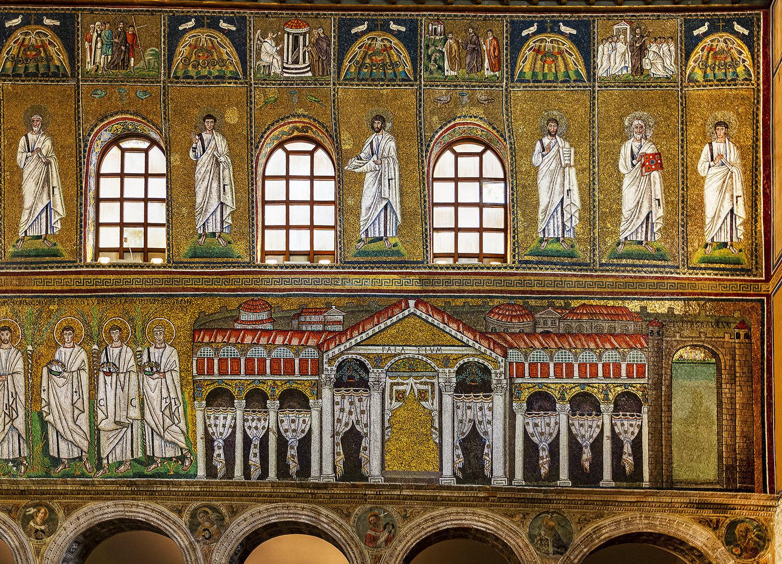 2-...parete Dx...nella Fascia Bassa La Reggia Di Teodorico... Apolinnare Nuovo Ravenna