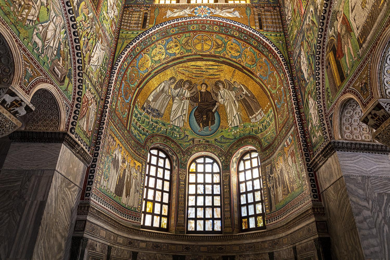 3-...abide Con Cristo Tra 2 Arcangeli, S. Vitale E Il Vescovo Ecclesio... Ravenna