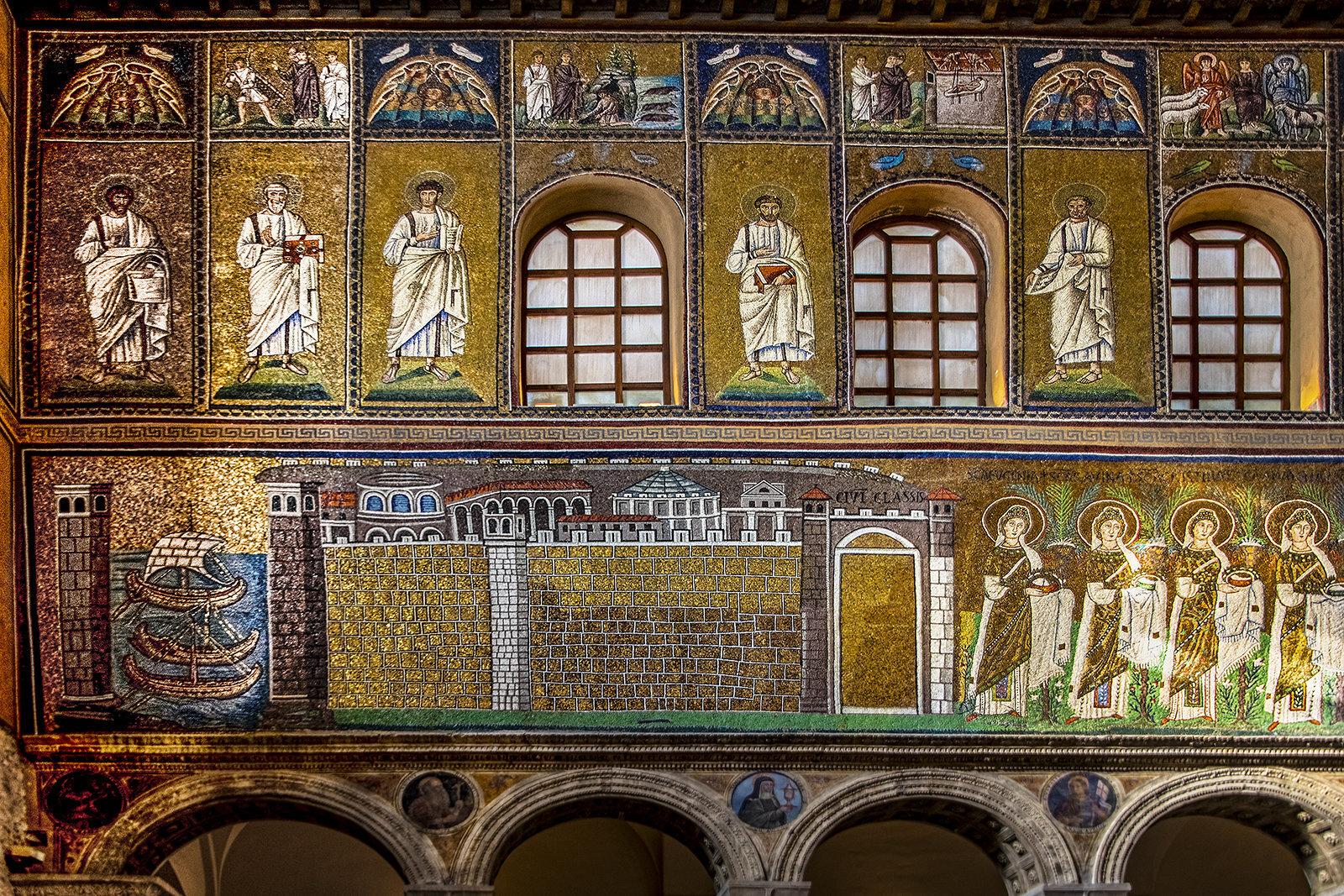 4-...parete Sin...nella Fascia Bassa La Città Di Classe E Il Suo Porto... Apolinnare Nuovo Ravenna