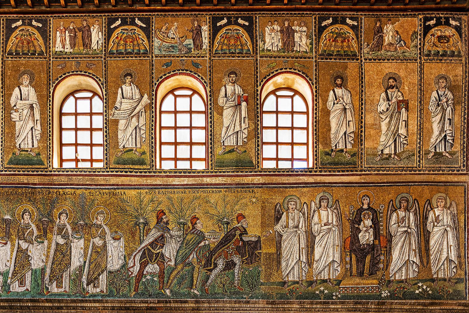 5-...parete Sin...nella Fascia Bassa L\'Epifania Del Signore Apolinnare Nuovo Ravenna