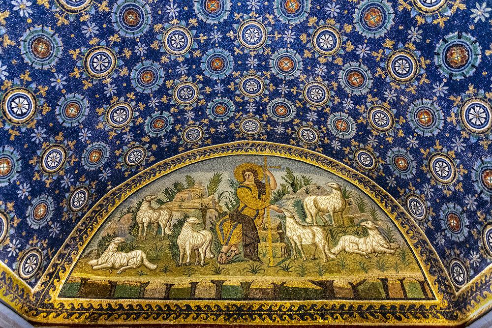 Ravenna 4-...lunetta Con Il \'Buon Pastore\'...