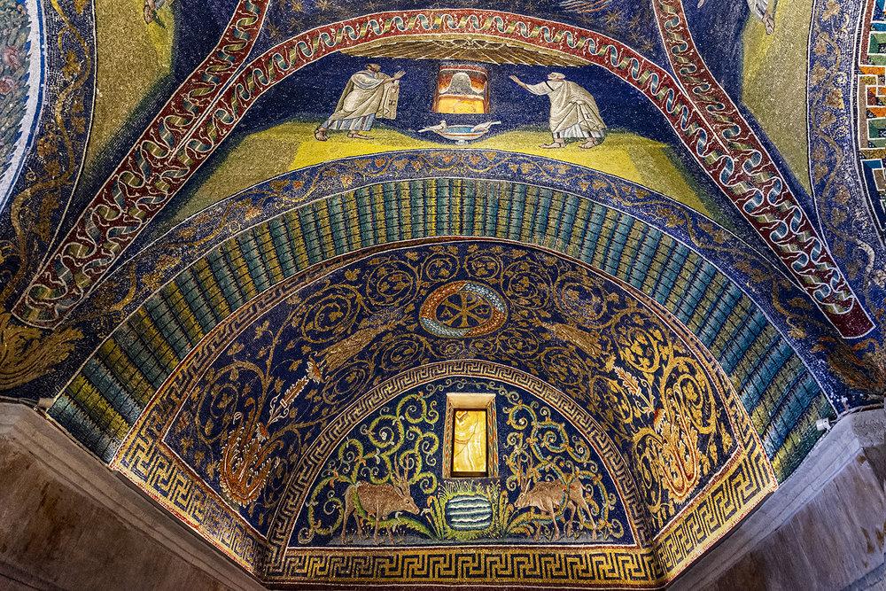 Ravenna 6-...coppia Di Cervi Si Disseta...